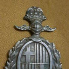 Militaria: ANTIGUA PLACA ESCUDO BARCELONA CATALUÑA. Lote 177687615
