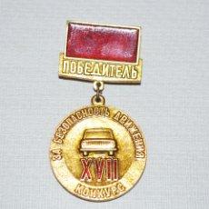 Militaria: INSIGNIA ,PIN .GANADOR CONCURSO POR SEGURIDAD VIAL.URSS. Lote 177952895