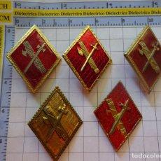 Militaria: 5 INSIGNIAS ROMBOS DISTINTOS ANTIGUOS DE LA GUARDIA CIVIL. . Lote 178865525