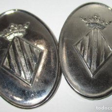 Militaria: LOTE 2 PLACAS ESCUDO VALENCIA. Lote 178882536