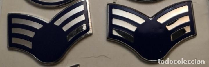 USAF. US AIR FORCE. PAREJA DE INSIGNIAS DE CUELLO DE UN SENIOR AIRMAN (Militar - Insignias Militares Extranjeras y Pins)