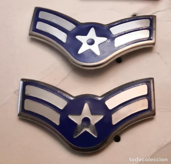USAF. US AIR FORCE. PAREJA DE INSIGNIAS DE CUELLO DE UN AIRMAN FIRST CLASS (Militar - Insignias Militares Extranjeras y Pins)