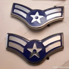 Militaria: USAF. US AIR FORCE. PAREJA DE INSIGNIAS DE CUELLO DE UN AIRMAN FIRST CLASS. Lote 179024318