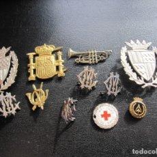 Militaria: LOTE DE INSIGNIAS DIFERENTES EPOCAS Y CUERPOS. Lote 179145596