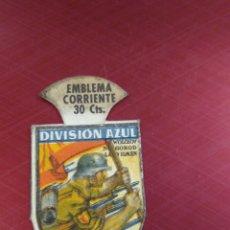 Militaria: EMBLEMA CORRIENTE AUXILIO SOCIAL SERIE E 5 DIVISIÓN AZUL. RUSIA ES CULPABLE. Lote 179238585