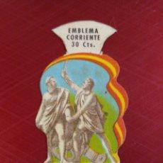 Militaria: EMBLEMA CORRIENTE AUXILIO SOCIAL SERIE E N° 6 , 2 DE MAYO.. Lote 179238921