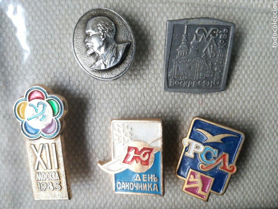 LOTE DE 5 PINS INSIGNIAS RUSIA UNION SOVIETICA (Militar - Insignias Militares Extranjeras y Pins)