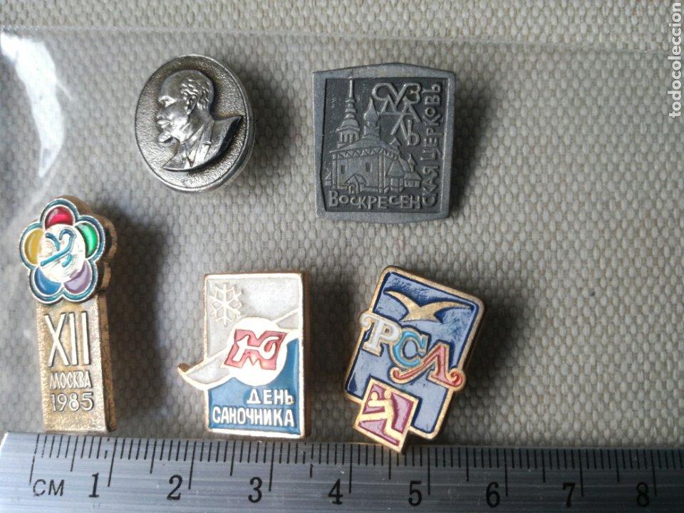 Militaria: Lote de 5 pins insignias Rusia Union Sovietica - Foto 2 - 180842461