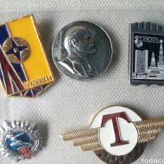 Militaria: LOTE DE 5 PINS INSIGNIAS, RUSIA UNION SOVIETICA. Lote 180843842