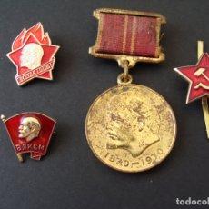 Militaria: COLECCIÓN DE MEDALLA, PINS Y INSIGNIA - LENIN - COMUNISMO - URSS - SALIDA 0,01€. Lote 181419787