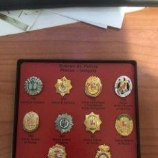 Militaria: COLECCION 10 PLACAS - INSIGNIAS DE CUERPOS DE POLICIA. Lote 181542107
