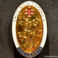 Militaria: INSIGNIA PIN DISTINTIVO SOCORRISTA CRUZ ROJA ESPAÑA. Lote 181925100