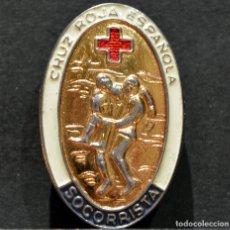 Militaria: INSIGNIA PIN DISTINTIVO SOCORRISTA CRUZ ROJA ESPAÑA. Lote 182006120
