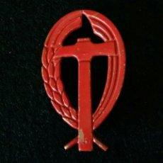 Militaria: INSIGNIA DE PECHO. CNS, CENTRAL NACIONAL SINDICALISTA. EMBLEMA DISTINTIVO FALANGE. Lote 182082932