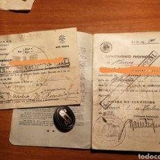 Militaria: CARTILLA AJUSTES TRABAJOS SERVICIOS SOCIALES DE FRANCO. VA CON PIN SS. Lote 182264687