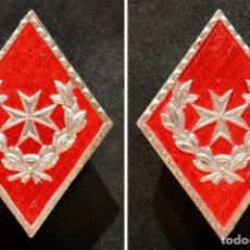 Militaria: LOTE 2 ROMBOS EJERCITO ESPAÑA SANITARIOS. Lote 182287758