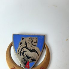 Militaria: FRANCIA / ARGELIA. DISTINTIVO 4 REGIMIENTO DE FUSILEROS ZOUAVES. Lote 182355650