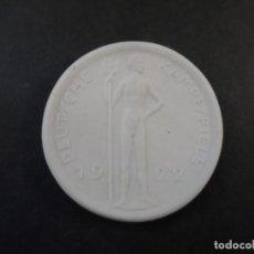 Militaria: MEDALLA PARTICIPANTES JUEGOS DE LUCHA ALEMANES 1922 BERLIN. EN PORCELANA. REPUBLICA DE WEIMAR. RARA. Lote 182416507