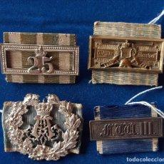 Militaria: LOTE DE 4 HEBILLAS / SCHNALLEN ALEMANIA WWI / BAVIERA - SAJONIA. Lote 182084896
