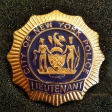 Militaria: PLACA POLICÍA NEW YORK. Lote 182776923