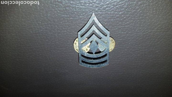 Militaria: ANTIGUA INSIGNIA US ARMY EJÉRCITO DE ESTADOS UNIDOS DIVISA SARGENTO PRIMERO / FIRST SARGEANT US ARMY - Foto 3 - 182781533
