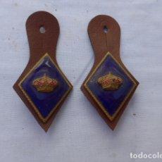 Militaria: * ANTIGUO LOTE DE 2 ROMBOS Y PEPITOS, GUARDIA REAL. ZX. Lote 182809816