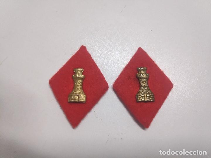 ROMBOS PAÑO INGENIEROS (Militar - Insignias Militares Españolas y Pins)