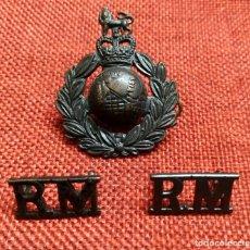 Militaria: LOTE INSIGNIAS ROYAL MARINES - CORPS OF ROYAL MARINES - BOOTNECKS - THE COMMANDOS. Lote 183312426