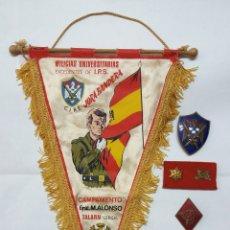 Militaria: LOTE MILICIAS UNIVERSITARIAS EXCEDENTES DE I.P.S, CAMPAMENTO GRAL ALONSO TALARN LERIDA CIRE. Lote 183383776