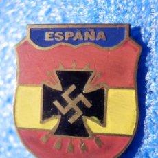Militaria: INSIGNIA DE AGUJA - ESPAÑA CON CRUZ GAMADA NACIONAL SOCIALISTA - GUERRA CIVIL. Lote 183612451