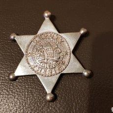 Militaria: ANTIGUA PLACA DEPUTY SHERIFF METAL BADGE LAW ENFORCEMENT 6 ESTRELLA PUNTAS. Lote 183782497