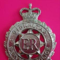 Militaria: INSIGNIA EMBLEMA GIBRALTAR SERVICES POLICE EN EXCELENTE ESTADO. Lote 183856642