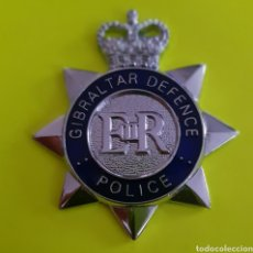 Militaria: INSIGNIA EMBLEMA GIBRALTAR DEFENCE POLICE EN EXCELENTE ESTADO REINO UNIDO. Lote 183857465
