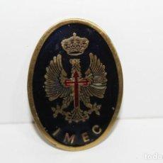 Militaria: PLACA MILICIAS UNIVERSITARIAS IMEC. Lote 183935162