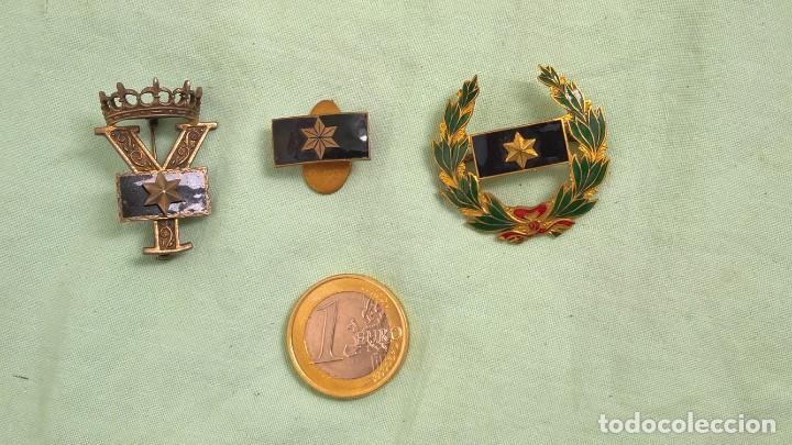 ALFEREZ PROVISIONAL..INSIGNIAS ESMALTADAS..GUERRA CIVIL, VIUDA E HIJO DE ALFEREZ CAIDO EN GUERRA. (Militar - Insignias Militares Españolas y Pins)