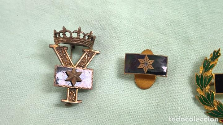 Militaria: Alferez Provisional..Insignias Esmaltadas..Guerra Civil, Viuda e Hijo de Alferez caido en guerra. - Foto 2 - 183976826