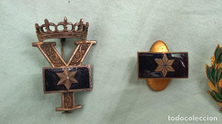 Militaria: Alferez Provisional..Insignias Esmaltadas..Guerra Civil, Viuda e Hijo de Alferez caido en guerra. - Foto 3 - 183976826