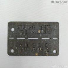 Militaria: ALEMANIA III REICH. PLACA DE IDENTIFICACIÓN DE PRISIONERO DE GUERRA. STALAG 344. Lote 184365652