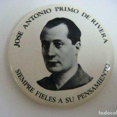 Militaria: CHAPA CON ALFILER DE JOSE ANTONIO PRIMO DE RIVERA. Lote 205562668