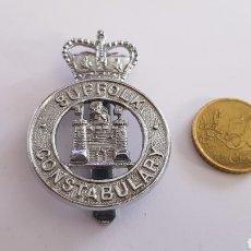 Militaria: INSIGNIA SUFFOLK CONSTABULARY POLICE ENGLAND EMBLEMA CHAPA. Lote 184865628