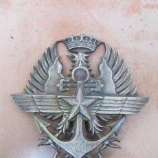Militaria: ANTIGUO ESCUDO, EN HIERRO FUNDIDO.. Lote 186150646
