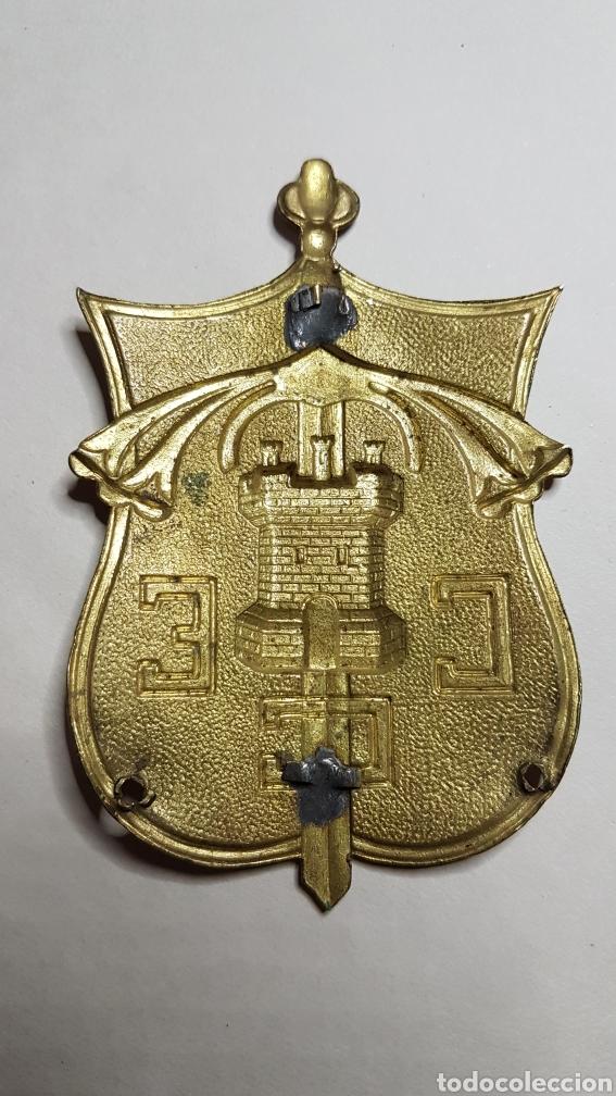 Militaria: Magnífica placa brazo Cuerpo Ejercito Castilla guerra civil - Foto 2 - 186431881