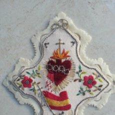 Militaria: ESCAPULARIO GRAN TAMAÑO. DETENTE: EL CORAZÓN DE JESÚS ESTÁ CONMIGO. GUERRA CIVIL ESPAÑOLA.. Lote 187379270
