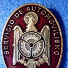 Militaria: INSIGNIA DE IMPERDIBLE - SERVICIO DE AUTOMOVILISMO - F.P.A. - POLICIA ARMADA - 37 MM X 50 MM. Lote 187496451