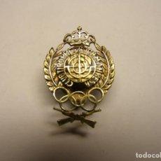 Militaria: INSIGNIA ANTIGUA DEL CLUB DE TIRO DE PRECISIÓN DE MANRESA.. Lote 189515358