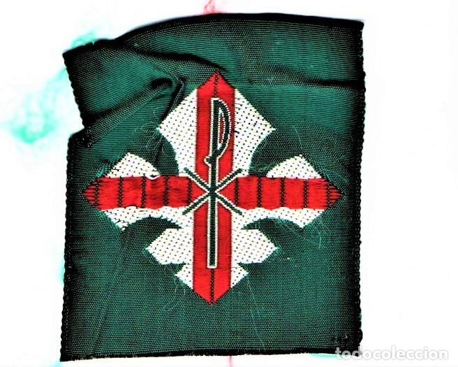Militaria: BOY SCOUTS,5 INSIGNIAS DE TELA AÑOS 60,MINYONS ESCOLTES DE CATALUNYA PARA GORRA,CAMISA.UNIFORME,VIC - Foto 3 - 190008183