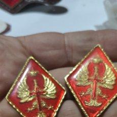 Militaria: PAREJA DE ROMBOS TROQUELADOS Y PLASTIFICADOS DE EL CUARTEL GENERAL DEL EJÉRCITO. Lote 295887128