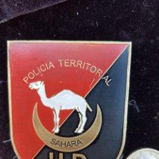 Militaria: ANTIGUA PLACA POLICIA TERRITORIAL DEL SAHARA ORIGINAL. Lote 190518671