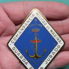 Militaria: PLACA COMANDANCIA MILITAR DE MARINA - GUARDA PESCA JURADO - REGION MARITIMA BARCELONA FRANQUISTA. Lote 190752883