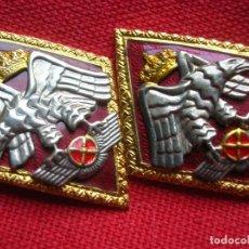 Militaria: MAGNIFICO PAR DE ROMBOS DE LA ACADEMIA GENERAL DEL AIRE. AVIACIÓN. EJERCITO DEL AIRE.. Lote 191006141